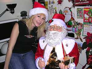 Cindy and Santa from my Christmas Web Cam Show 2012.